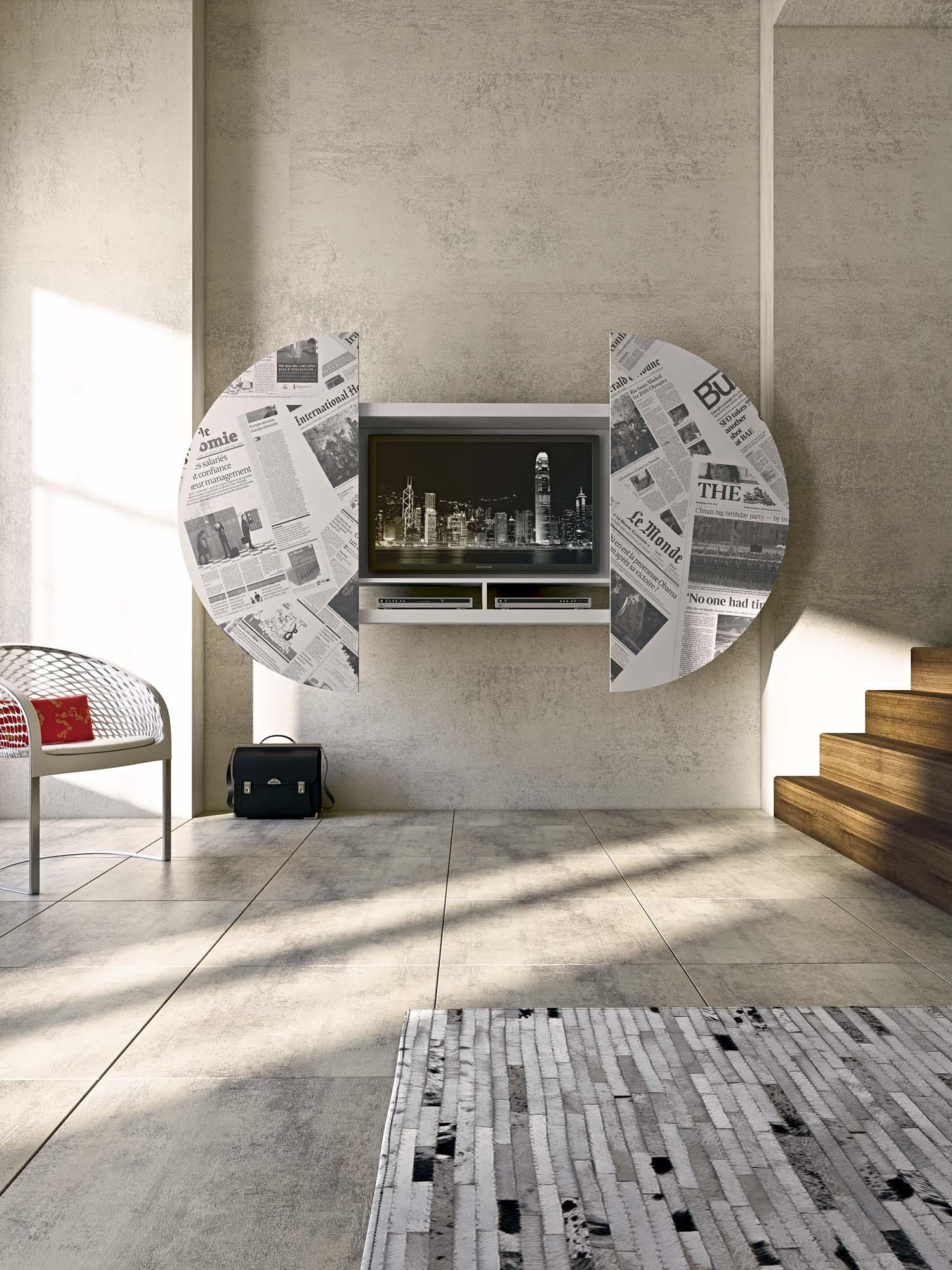 Composizione 09 porta TV 2 Scorcio 3 V