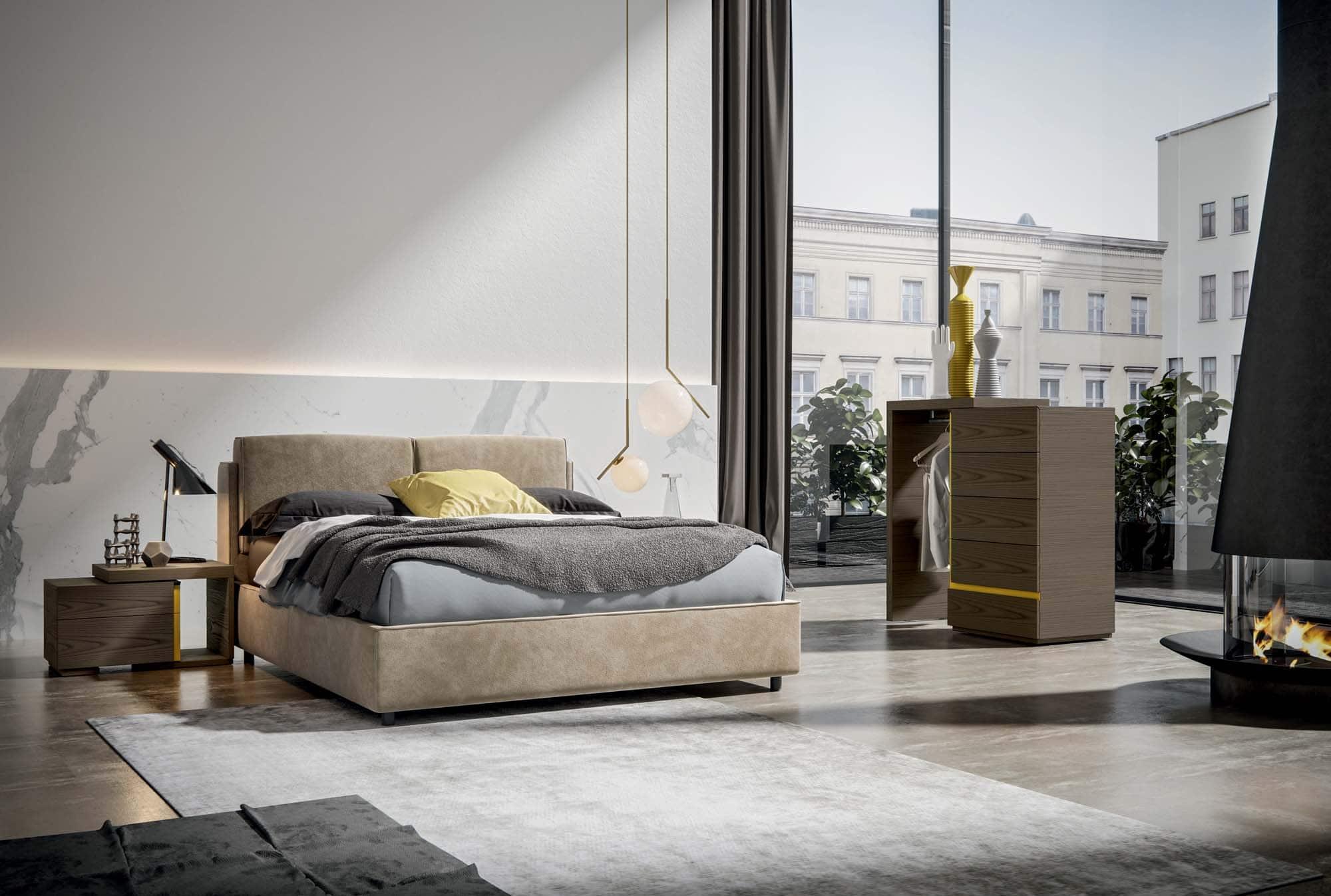 Varo letto veneran mobili for Ethos arredamenti