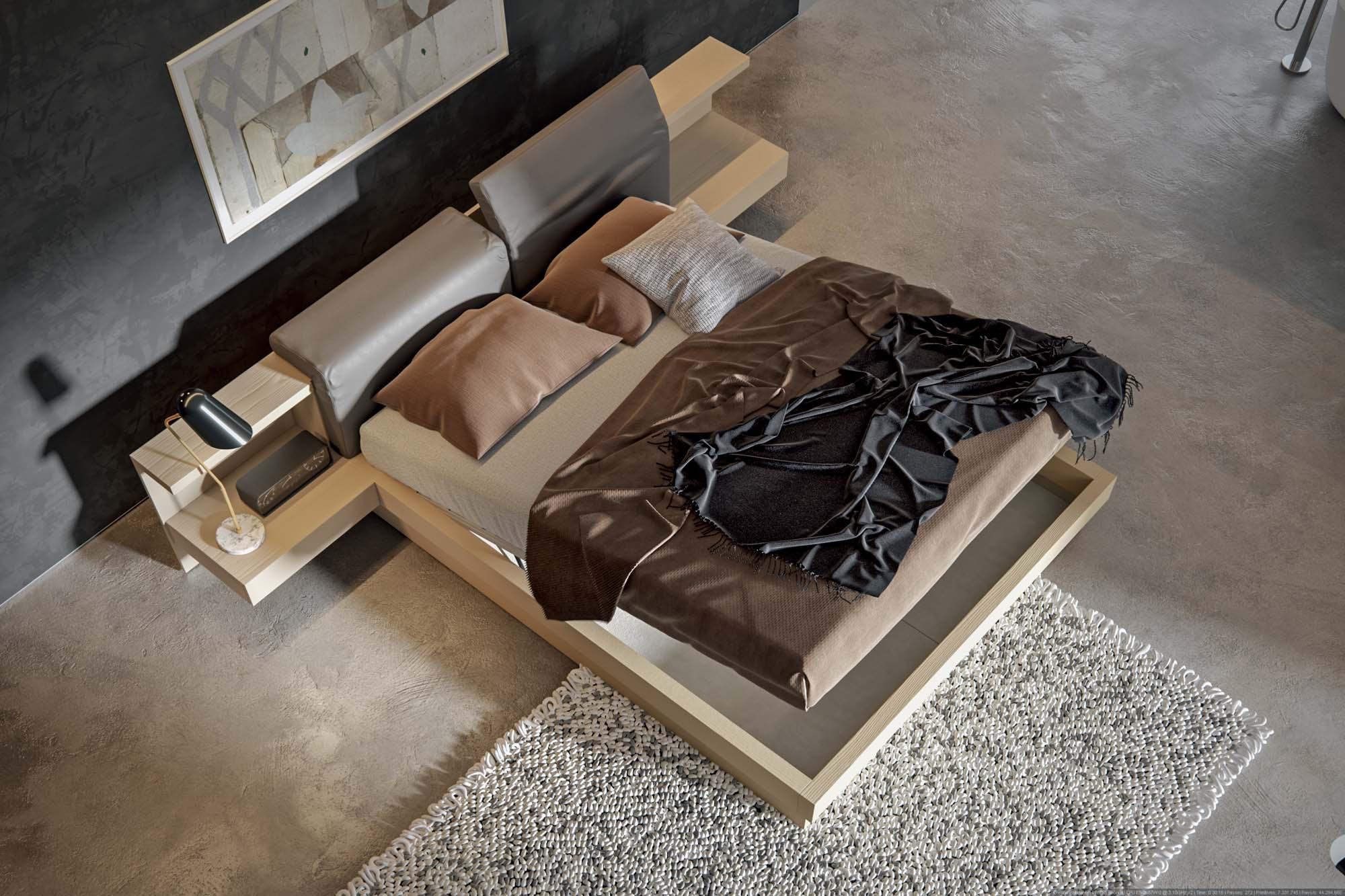 Letto Con Testiera Porta Cuscini : Letto con testiera porta cuscini cuscini una coperta sul letto